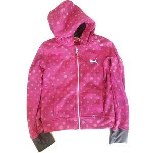 Puma | Polka-dot Camo Hooded Zip Up Jacket